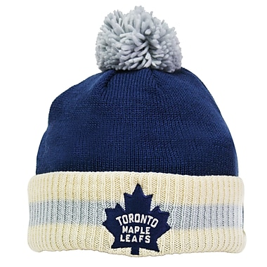 Reebok CCM Stripe Cuffed Pom Knit Toque, Toronto Maple Leafs