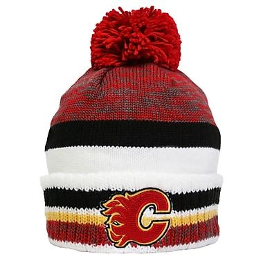 Reebok – Tuque en tricot à pompon de la collection Centre Ice, Flames de Calgary