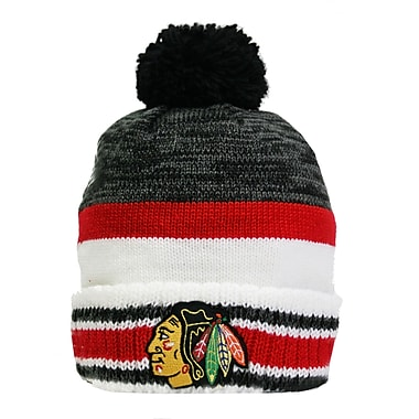 Reebok Center Ice Team Pom Knit Toque, Chicago Blackhawks