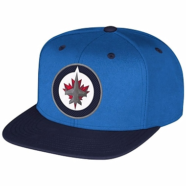 Reebok Multi Color Flat Brim Snapback Cap, Winnipeg Jets
