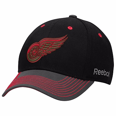 Reebok Face Off Tri-Tone Structured Flex Cap, Detroit Red Wings, Small/Medium