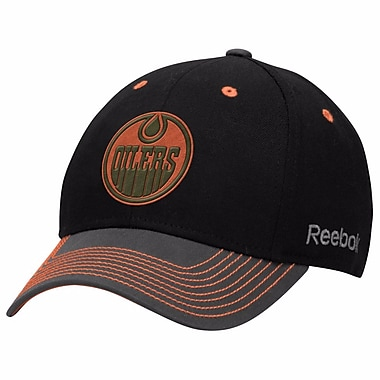 Reebok Face Off Tri-Tone Structured Flex Cap, Edmonton Oilers, Small/Medium