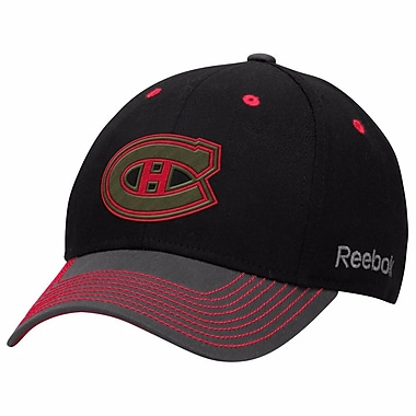 Reebok Face Off Tri-Tone Structured Flex Cap, Montreal Canadiens, Large/X Large