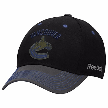 Reebok Face Off Tri-Tone Structured Flex Cap, Vancouver Canucks, Small/Medium