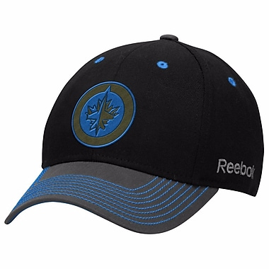 Reebok Face Off Tri-Tone Structured Flex Cap, Winnipeg Jets, Large/X Large