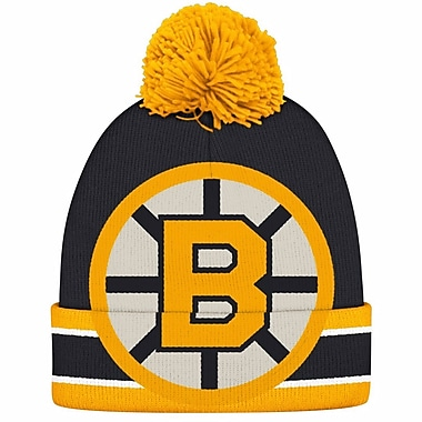 Reebok CCM Oversized Logo Cuffed Pom Knit Toque, Boston Bruins