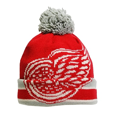 Reebok CCM Oversized Logo Cuffed Pom Knit Toque, Detroit Red Wings