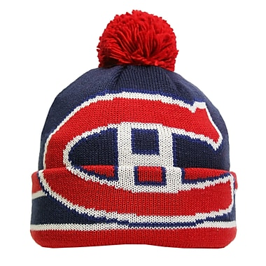 Reebok CCM Oversized Logo Cuffed Pom Knit Toque, Montreal Canadiens