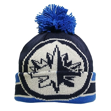 Reebok CCM Oversized Logo Cuffed Pom Knit Toque, Winnipeg Jets