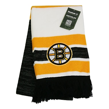 Reebok Center Ice Jacquard Scarf, Boston Bruins