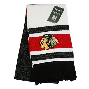 Reebok Center Ice Jacquard Scarf, Chicago Blackhawks