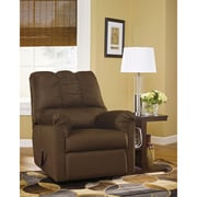 Flash Furniture Signature Design by Ashley Darcy Cafe Fabric Rocker Recliner (1109RECCAF)