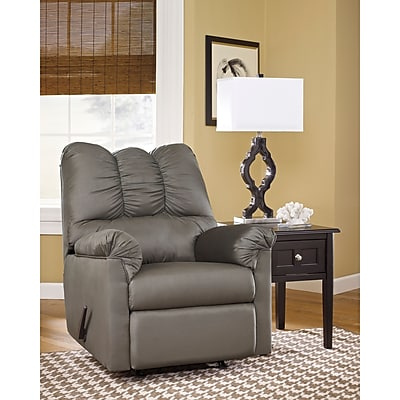 Flash Furniture Signature Design by Ashley Darcy Rocker Recliner in Cobblestone Fabric (1109RECCOB)