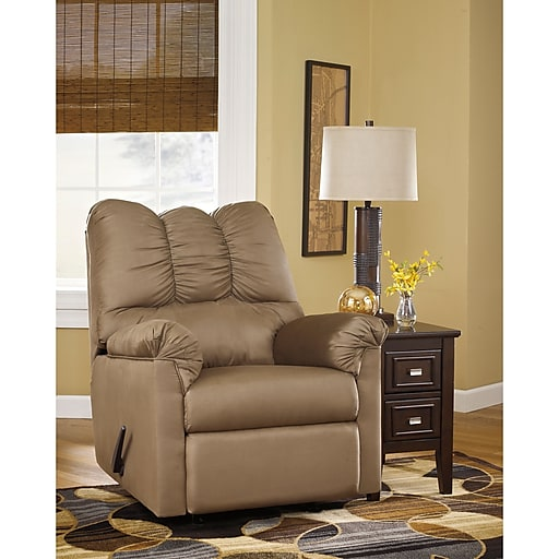 Flash Furniture Signature Design by Ashley Darcy Rocker Recliner in Mocha Fabric (1109RECMOC)