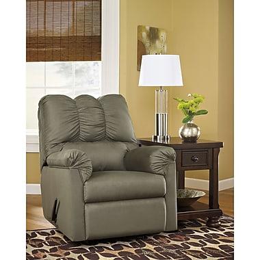Flash Furniture – Fauteuil berçant inclinable Darcy signé Ashley en tissu couleur sauge (1109RECSAG)