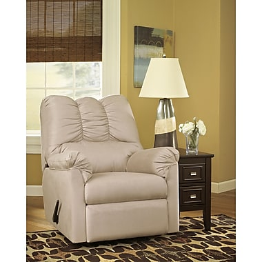 Flash Furniture Signature Design by Ashley Darcy Rocker Recliner in Stone Fabric (1109RECSTO)
