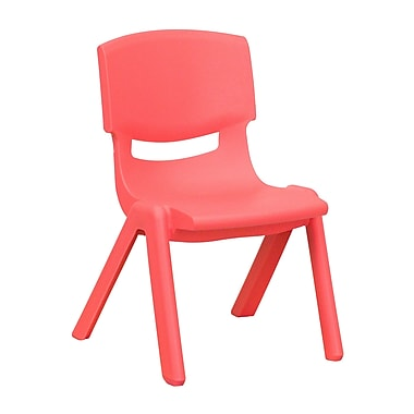 Flash Furniture Plastic Stackable School Chair, 10.5'' Seat Height, Red (1YUYCX003RED)