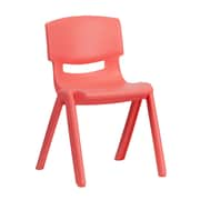 Flash Furniture Plastic Stackable School Chair, Red, 13.25'' Seat Height (1YUYCX004RED)