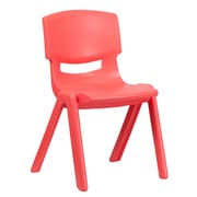 Flash Furniture Plastic Stackable School Chair, Red, 15.5'' Seat Height (1YUYCX005RED)