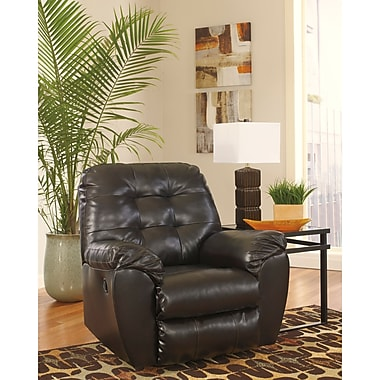 Flash Furniture Signature Design by Ashley Alliston Rocker Recliner in Chocolate DuraBlend (2399RECCHO)
