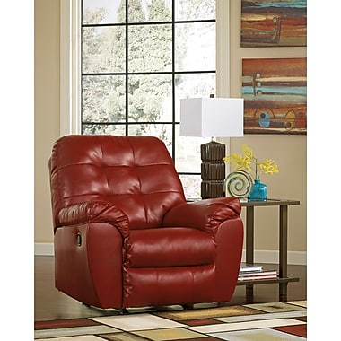 Flash Furniture Signature Design by Ashley Alliston Rocker Recliner in Salsa DuraBlend (2399RECRED)