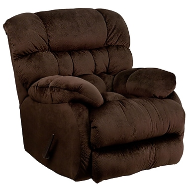 Flash Furniture – Fauteuil berçant inclinable contemporain Sharpei en microfibres, chocolat (AM94605980)