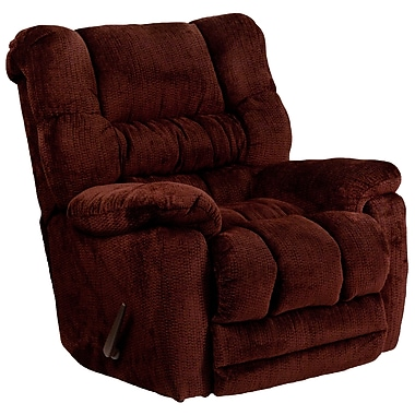 Flash Furniture – Fauteuil berçant inclinable contemporain Temptation en microfibres couleur rouge merlot (AM95606451)