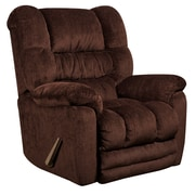 Flash Furniture Contemporary Temptation Mahogany Microfiber Rocker Recliner (AM95606452)