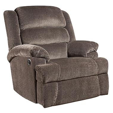 Flash Furniture – Gros fauteuil inclinable Aynsley, capacité de 350 lb, tissu en microfibres anthracite (AM99607922)