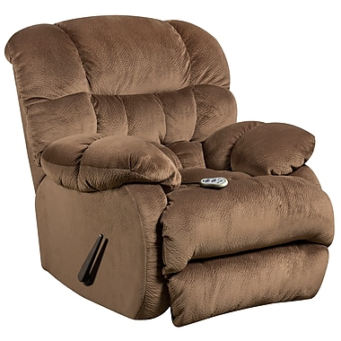 Flash Furniture Massaging Sharpei Microfiber Recliner with Heat Control, Espresso (AMH94605983)
