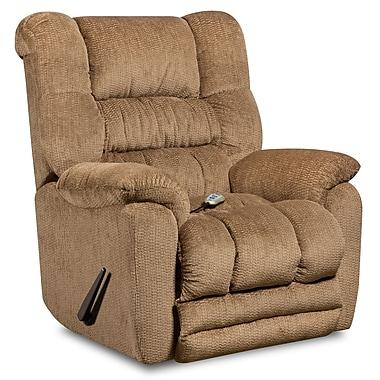 Flash Furniture – Fauteuil de massage inclinable et chauffant Temptation en tissu de microfibres fauve (AMH95606450)