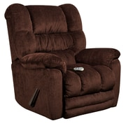 Flash Furniture Massaging Temptation Mahogany Microfiber Recliner with Heat Control (AMH95606452)