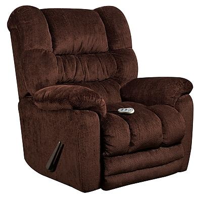 Flash Furniture Massaging Temptation Mahogany Microfiber Recliner with Heat Control (AMH95606452)
