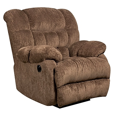 Flash Furniture Contemporary Columbia Microfiber Power Recliner with Push Button, Mushroom (AMP94605860)