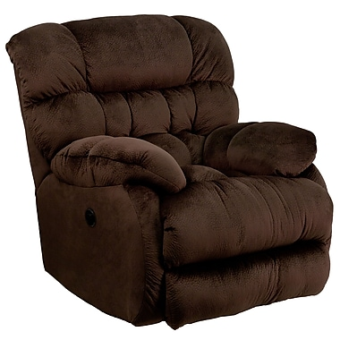 Flash Furniture Contemporary Sharpei Microfiber Power Recliner with Push Button, Chocolate (AMP94605980)