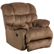 Flash Furniture Contemporary Sharpei Espresso Microfiber Power Recliner with Push Button (AMP94605983)