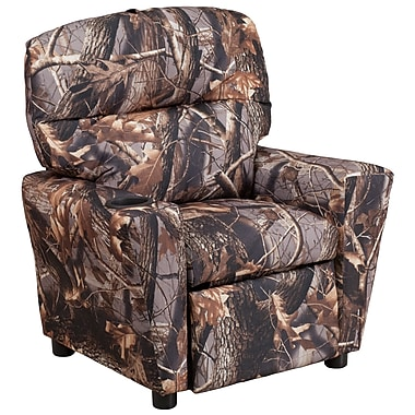 Flash Furniture Contemporary Fabric Kids Recliner with Cup Holder, Camouflage (BT7950KIDCAMO)