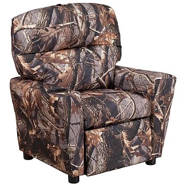 Flash Furniture – Fauteuil inclinable contemporain pour enfants, porte-gobelet, tissu camouflage (BT7950KIDCAMO)