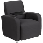 Flash Furniture Fabric Guest Chair, Gray with Tablet Arm and Chrome Legs (BT8217GY)