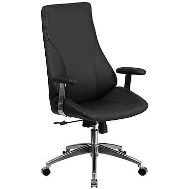 BT90068H Black Leather Executive Swivel High Back Office Chair