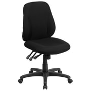Flash Furniture BT90297S Mid-Back Fabric Multi-Functional Ergonomic Swivel Task Chair in Black