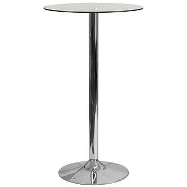 Flash Furniture 23.75'' Round Glass Table with 41.75''H Chrome Base (CH3)