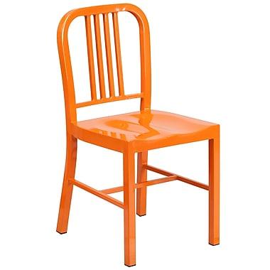 Flash Furniture – Chaise pour l'intérieur et l'extérieur, métal, orange (CH3120018ORG)