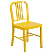 Flash Furniture Metal Indoor/Outdoor Chair, Yellow (CH3120018YL)
