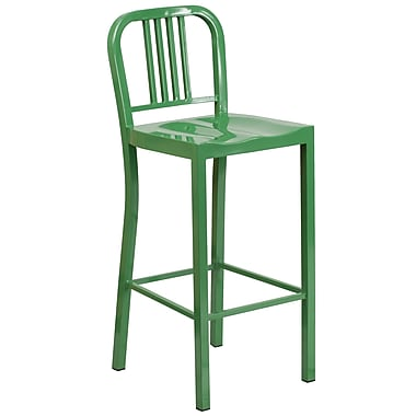 Flash Furniture 30''H Metal Indoor/Outdoor Barstool, Green (CH3120030GN)