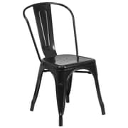 Flash Furniture Black Metal Indoor-Outdoor Stackable Chair (CH31230BK)
