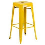 Flash Furniture 30'' High Backless Metal Indoor/Outdoor Barstool with Square Seat, Yellow (CH3132030YL)
