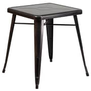 Flash Furniture 24'' Square Metal Indoor/Outdoor Table, Black/Antique Gold (CH3133029BQ)