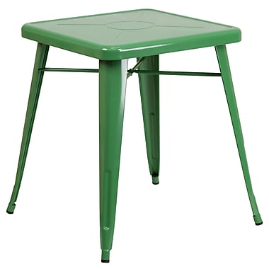 Flash Furniture 24'' Square Metal Indoor/Outdoor Table, Green (CH3133029GN)