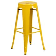Flash Furniture 30'' High Backless Metal Indoor-Outdoor Barstool with Round Seat (CH3135030YL)